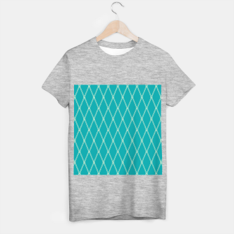 Thumbnail image of Nautical Fishing Net (Teal and Beige) T-shirt regular, Live Heroes