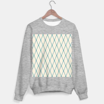 Thumbnail image of Nautical Fishing Net (Beige and Teal) Sweater regular, Live Heroes