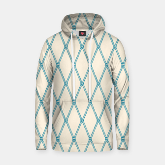 Thumbnail image of Nautical Fishing Net (Beige and Teal) Hoodie, Live Heroes