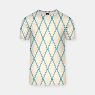 Thumbnail image of Nautical Fishing Net (Beige and Teal) T-shirt, Live Heroes
