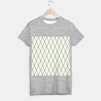 Thumbnail image of Nautical Fishing Net (Beige and Teal) T-shirt regular, Live Heroes