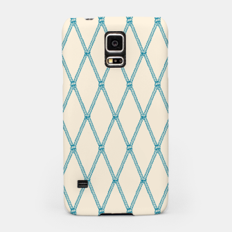Thumbnail image of Nautical Fishing Net (Beige and Teal) Samsung Case, Live Heroes
