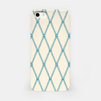 Thumbnail image of Nautical Fishing Net (Beige and Teal) iPhone Case, Live Heroes