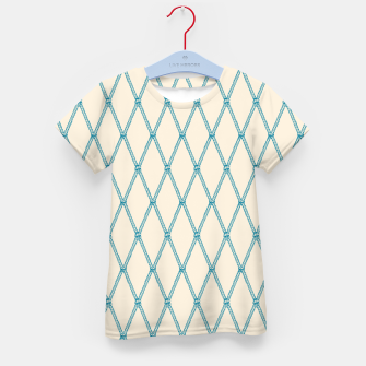 Thumbnail image of Nautical Fishing Net (Beige and Teal) Kid's t-shirt, Live Heroes