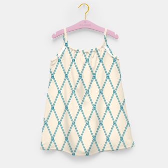Thumbnail image of Nautical Fishing Net (Beige and Teal) Girl's dress, Live Heroes