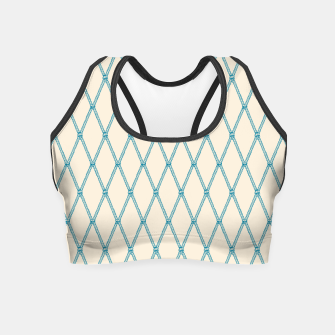 Thumbnail image of Nautical Fishing Net (Beige and Teal) Crop Top, Live Heroes