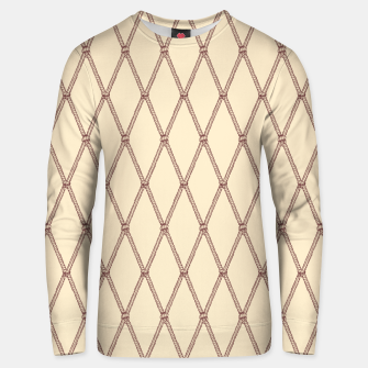 Thumbnail image of Nautical Fishing Net (Beige and Sepia) Unisex sweater, Live Heroes
