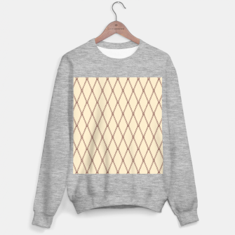 Thumbnail image of Nautical Fishing Net (Beige and Sepia) Sweater regular, Live Heroes