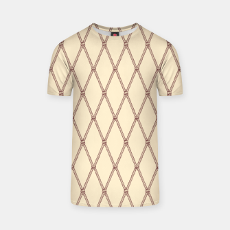 Thumbnail image of Nautical Fishing Net (Beige and Sepia) T-shirt, Live Heroes