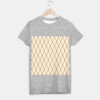Thumbnail image of Nautical Fishing Net (Beige and Sepia) T-shirt regular, Live Heroes