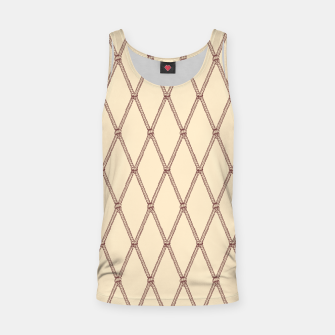 Thumbnail image of Nautical Fishing Net (Beige and Sepia) Tank Top, Live Heroes