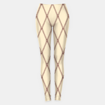 Thumbnail image of Nautical Fishing Net (Beige and Sepia) Leggings, Live Heroes