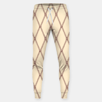 Thumbnail image of Nautical Fishing Net (Beige and Sepia) Sweatpants, Live Heroes