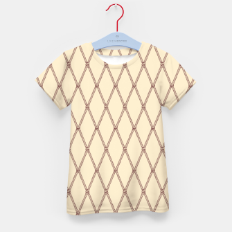 Thumbnail image of Nautical Fishing Net (Beige and Sepia) Kid's t-shirt, Live Heroes