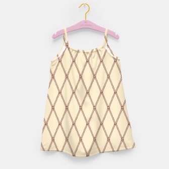 Thumbnail image of Nautical Fishing Net (Beige and Sepia) Girl's dress, Live Heroes