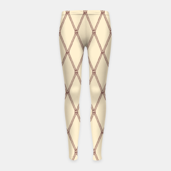 Thumbnail image of Nautical Fishing Net (Beige and Sepia) Girl's leggings, Live Heroes