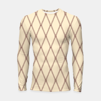 Thumbnail image of Nautical Fishing Net (Beige and Sepia) Longsleeve rashguard , Live Heroes