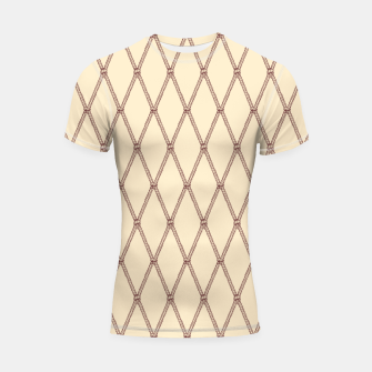 Thumbnail image of Nautical Fishing Net (Beige and Sepia) Shortsleeve rashguard, Live Heroes