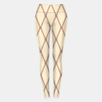 Miniaturka Nautical Fishing Net (Beige and Sepia) Leggings, Live Heroes