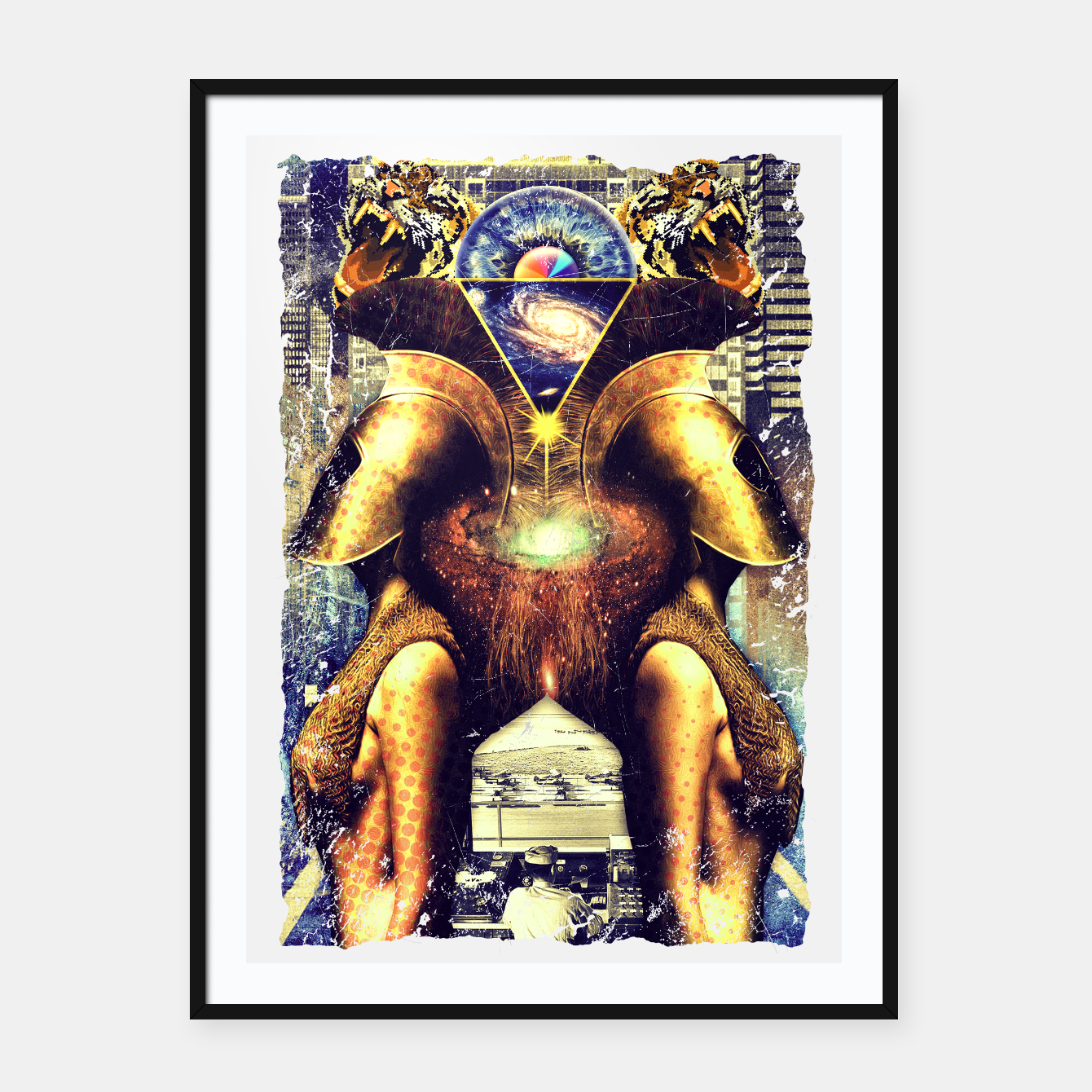 Image of TWINSOUL Framed poster - Live Heroes