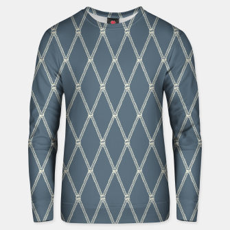 Thumbnail image of Nautical Fishing Net (Blue-Grey and Beige) Unisex sweater, Live Heroes