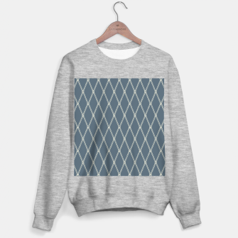 Thumbnail image of Nautical Fishing Net (Blue-Grey and Beige) Sweater regular, Live Heroes