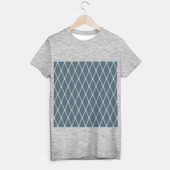 Thumbnail image of Nautical Fishing Net (Blue-Grey and Beige) T-shirt regular, Live Heroes