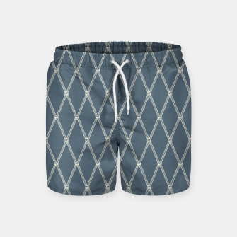 Thumbnail image of Nautical Fishing Net (Blue-Grey and Beige) Swim Shorts, Live Heroes