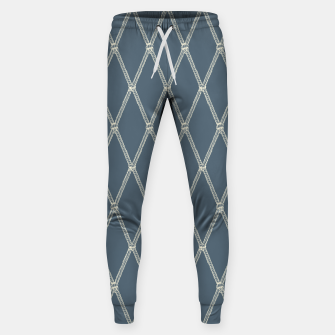 Thumbnail image of Nautical Fishing Net (Blue-Grey and Beige) Sweatpants, Live Heroes