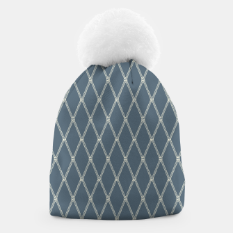 Thumbnail image of Nautical Fishing Net (Blue-Grey and Beige) Beanie, Live Heroes