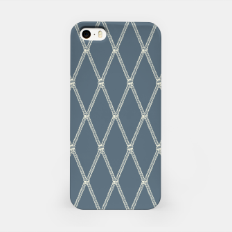 Thumbnail image of Nautical Fishing Net (Blue-Grey and Beige) iPhone Case, Live Heroes