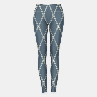 Miniaturka Nautical Fishing Net (Blue-Grey and Beige) Leggings, Live Heroes