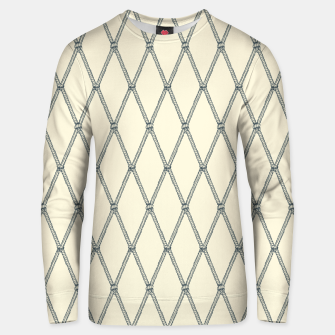 Thumbnail image of Nautical Fishing Net (Beige and Grey) Unisex sweater, Live Heroes