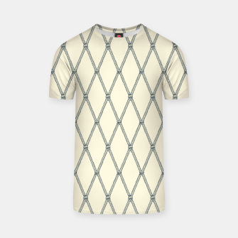 Thumbnail image of Nautical Fishing Net (Beige and Grey) T-shirt, Live Heroes