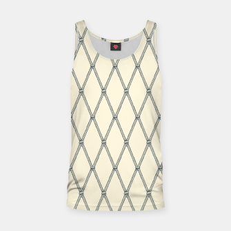 Thumbnail image of Nautical Fishing Net (Beige and Grey) Tank Top, Live Heroes