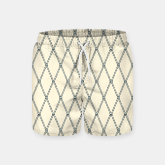 Thumbnail image of Nautical Fishing Net (Beige and Grey) Swim Shorts, Live Heroes