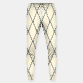 Thumbnail image of Nautical Fishing Net (Beige and Grey) Sweatpants, Live Heroes