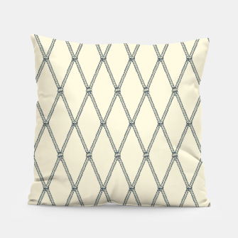 Thumbnail image of Nautical Fishing Net (Beige and Grey) Pillow, Live Heroes