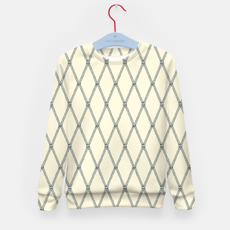 Thumbnail image of Nautical Fishing Net (Beige and Grey) Kid's sweater, Live Heroes