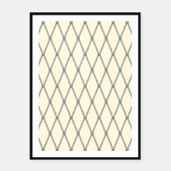 Thumbnail image of Nautical Fishing Net (Beige and Grey) Framed poster, Live Heroes