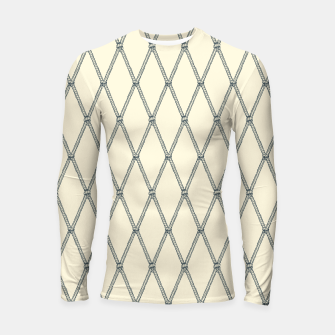 Thumbnail image of Nautical Fishing Net (Beige and Grey) Longsleeve rashguard , Live Heroes