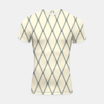 Thumbnail image of Nautical Fishing Net (Beige and Grey) Shortsleeve rashguard, Live Heroes