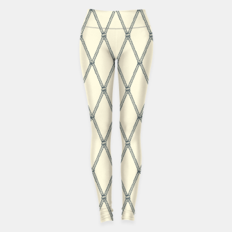 Thumbnail image of Nautical Fishing Net (Beige and Grey) Leggings, Live Heroes