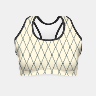 Thumbnail image of Nautical Fishing Net (Beige and Grey) Crop Top, Live Heroes