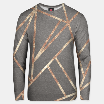 Thumbnail image of Classic Gray Rose Gold Geo #1 #geometric #decor #art Unisex sweatshirt, Live Heroes