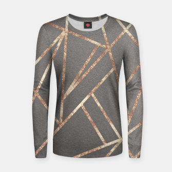 Miniaturka Classic Gray Rose Gold Geo #1 #geometric #decor #art Frauen sweatshirt, Live Heroes