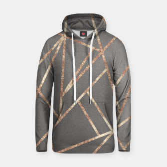 Thumbnail image of Classic Gray Rose Gold Geo #1 #geometric #decor #art Kapuzenpullover, Live Heroes