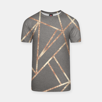 Miniaturka Classic Gray Rose Gold Geo #1 #geometric #decor #art T-Shirt, Live Heroes