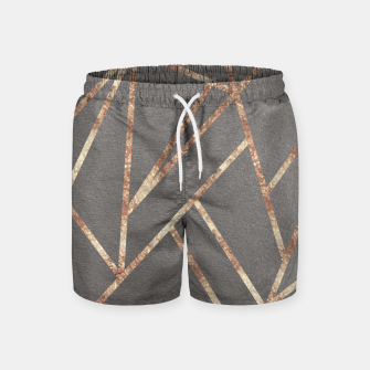 Thumbnail image of Classic Gray Rose Gold Geo #1 #geometric #decor #art Badeshorts, Live Heroes
