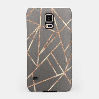 Thumbnail image of Classic Gray Rose Gold Geo #1 #geometric #decor #art Handyhülle für Samsung, Live Heroes